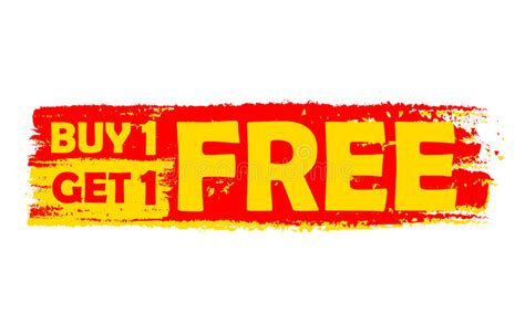 Get The 4 1 1 For Free by Buy One Get One Free Yellow And Label Stock