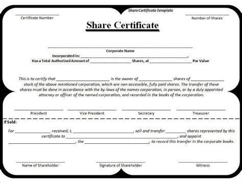42 Stock Certificate Templates Free Word Pdf Excel Formats Corporate Stock Certificates Template Free