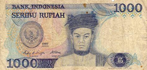 Uang Kertas 100 Rupiah Tahun 1977 uang 1000 seribu rupiah raja sisingamangaraja xii tahun 1987