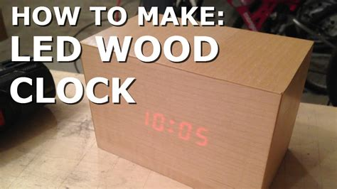 How To Make A Handmade - make led wooden clock