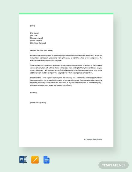 resignation letter templates ready
