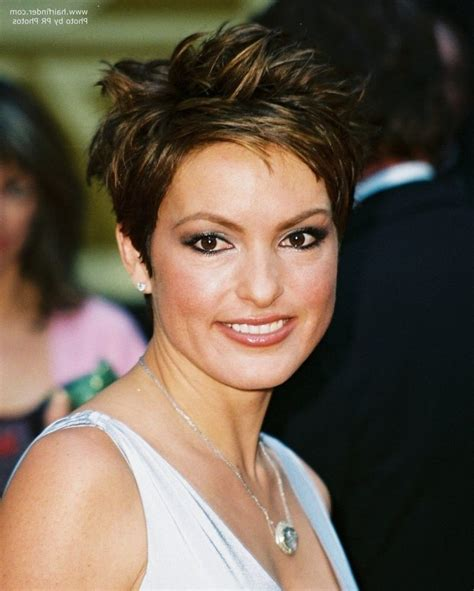 choppy pixie haircuts choppy pixie haircuts mariska hargitay wearing a short