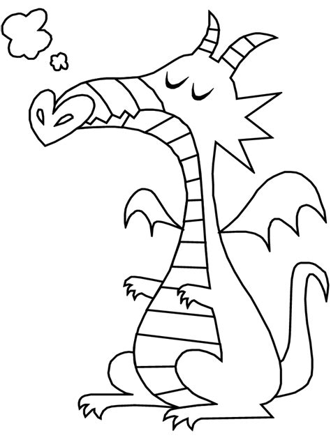 simple dragon coloring page free printable fantasy coloring pages for kids best