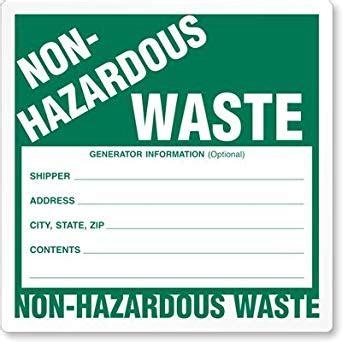 Non Hazardous Waste Labels Nfpa Paper Label 100 Labels Roll 6 Quot X 6 Quot Industrial Warning Free Hazardous Waste Label Template