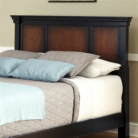 queen size black headboard shop home styles aspen rustic cherry black full queen