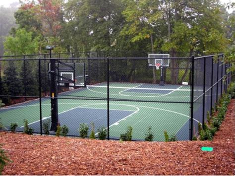outdoor basketball court landscape traditional with