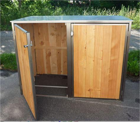überdachung Selber Bauen Metall by Mb7 2er M 252 Lltonnenbox Holz Edelstahl 120 240 Liter