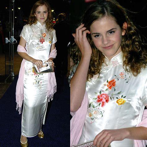 emma watson qipao mandarin dress inspired evening gowns elegente blog