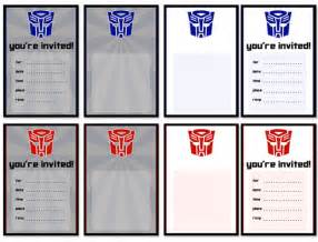 Transformers Birthday Invitations Template by Free Printable Transformer Birthday Invitations