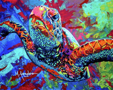 photo collection colorful sea turtle paintings