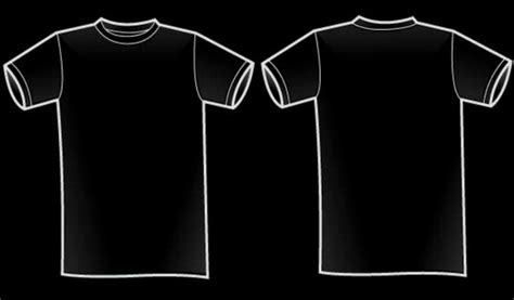 black t shirt front back artee shirt