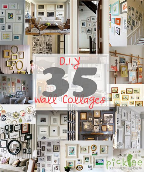 Wall Picture Collage Ideas Diy Photo Wall Collages Endless Inspiration Picklee