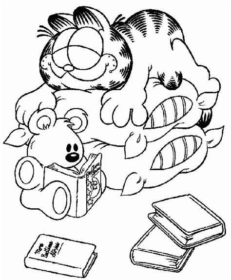 garfield coloring pages games free printable garfield coloring pages for kids