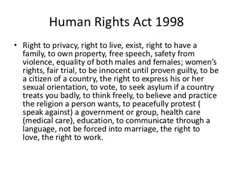 the human rights act legislation in the creative media industry