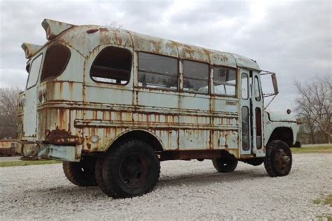 Yellow Barn Big Bad Bus 1960 Mercury Napco 4x4 Bus