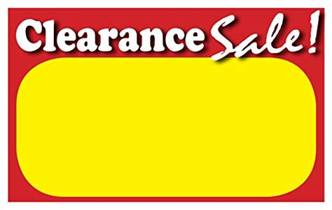 Retail Clearance Signs Template 5 5 Quot X3 5 Quot Blank Sale Price Tags 50 Pack Business Industrial Retail Sale Signs Templates Free