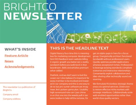 interactive newsletter templates indesign template of the month interactive newsletter