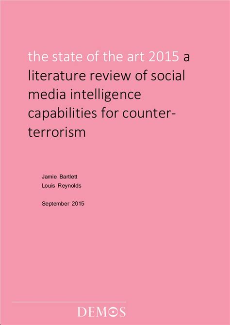 Literature Review Image Media by The State Of The 2015 A Literature Review Of Social Media Intelli