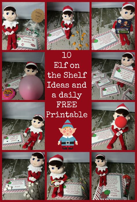 printable elf on the shelf ideas free 10 easy elf on the shelf ideas and a daily printable