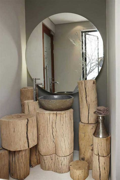 bathroom log 35 diy log ideas take rustic decor to your home