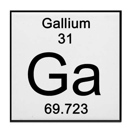periodic table gallium tile coaster by science_lady