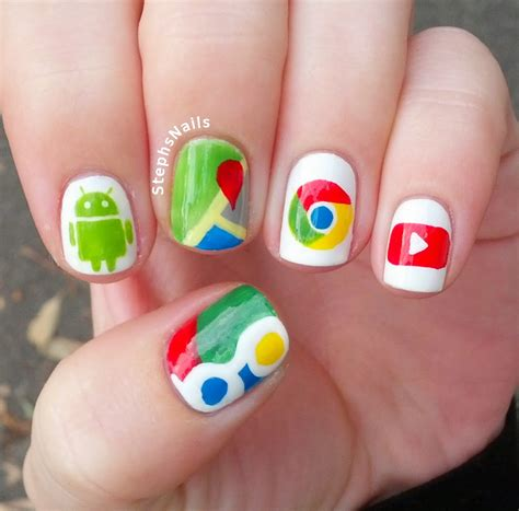 Google Nails Design | stephsnailss google nails
