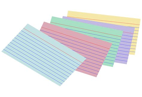 what to make with index cards clipart stack of colored index cards