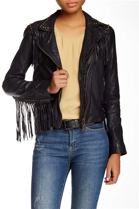 12 Jaket Fringe Jumbo doma beaded fringed leather jacket nordstrom rack