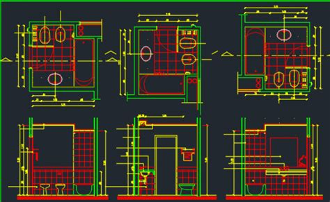 toilet layout dwg bathroom design dwg file