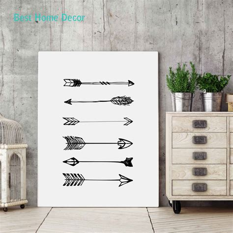 posters home decor arrow art print poster for home decor black white wall