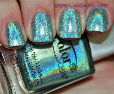 color club holographic nail scrangie color club halo hues holographic nail