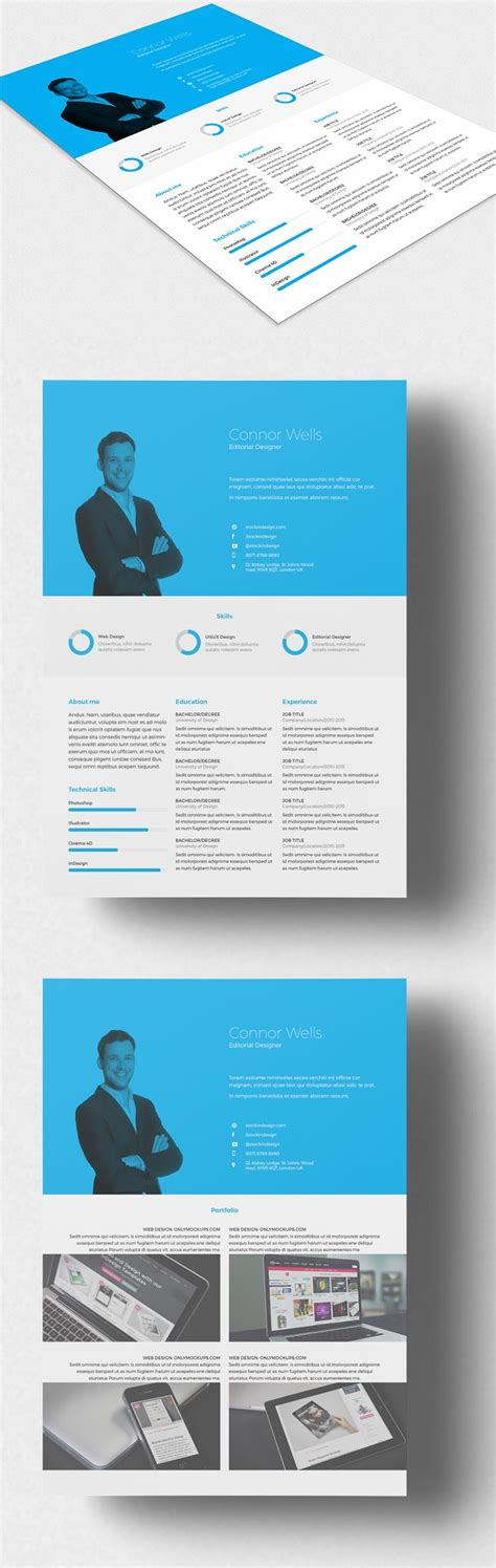 professional indesign templates professional resume indesign template