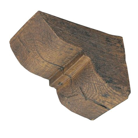 Faux Wood Corbels 4 1 4 in x 4 1 4 in x 5 3 4 in prefinished polyurethane