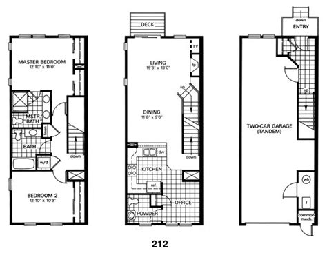 baltimore row house floor plan architecture interior