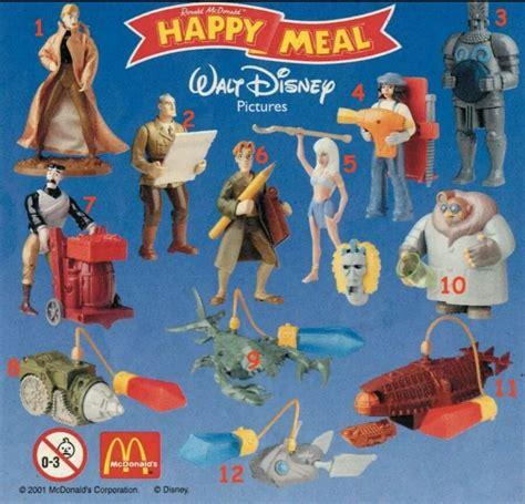 Mainan Figure Anak Fast Food Toys 2 mcdonalds happy meal toys disney s atlantis 2001 set of 12 bnip ebay