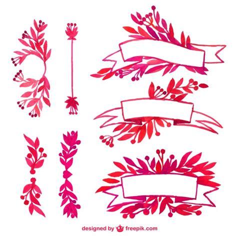 cintas decorativas acuarela cintas decorativas descargar vectores gratis