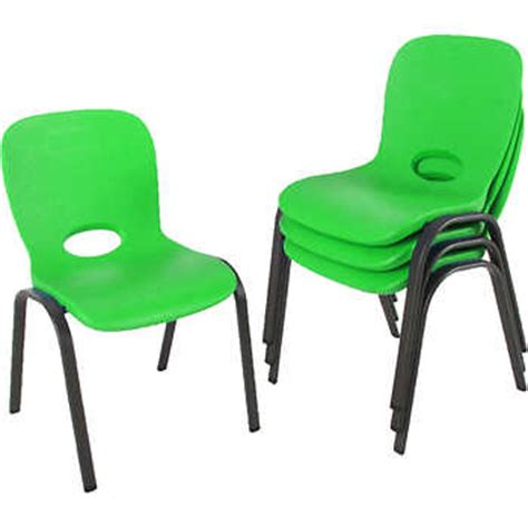 Lifetime Stacking Chairs by Lifetime 174 Stacking Chair 4pk Lime