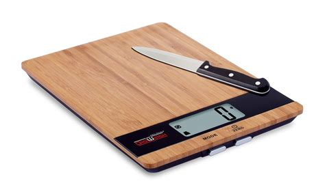Bamboo Kitchen Scale by Cutting Board And Kitchen Scale Groupon Goods