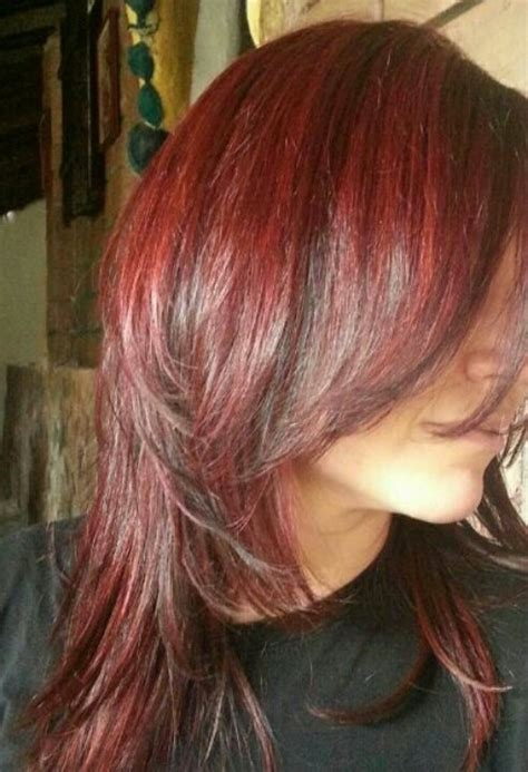 red hair with red highlights or lowlights dark red hair highlights lowlights haaiir pinterest my