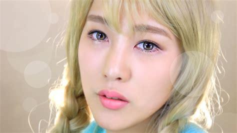 Photocard Taeyeon Dear Santa eng snsd tts dear santa taeyeon makeup tut ssin