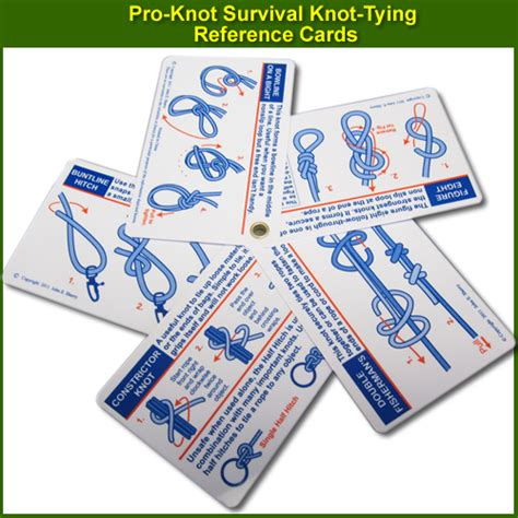 printable knot card pro knot survival knot tying reference cards 764511253002