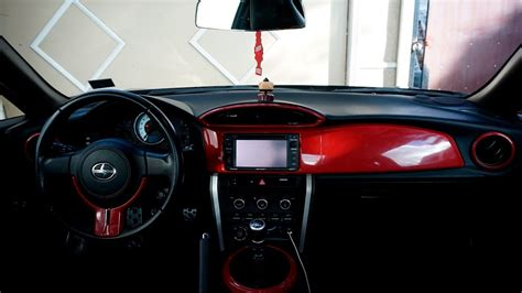 frs interior vinyl wrapping interior trim of 2014 scion fr s
