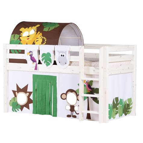 flexa loft bed jungle midsleeper loft bed by flexa shown in whitewash