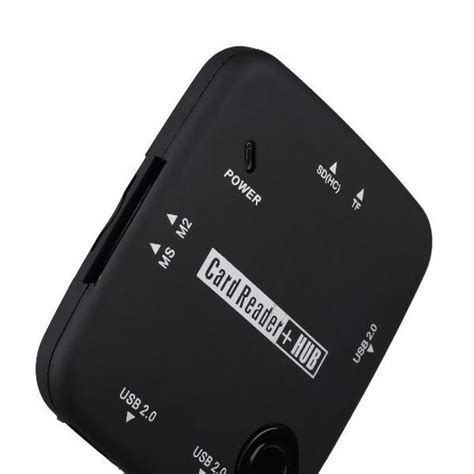 Usb Hub Card Reader micro usb otg hub and card reader black