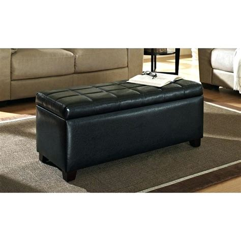 large leather storage ottoman coffee table table big ottoman black leather storage ottoman
