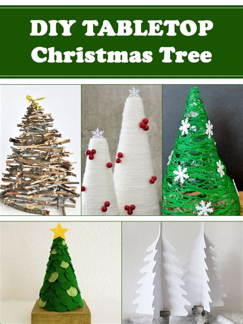 diy tabletop christmas tree decorations for your home