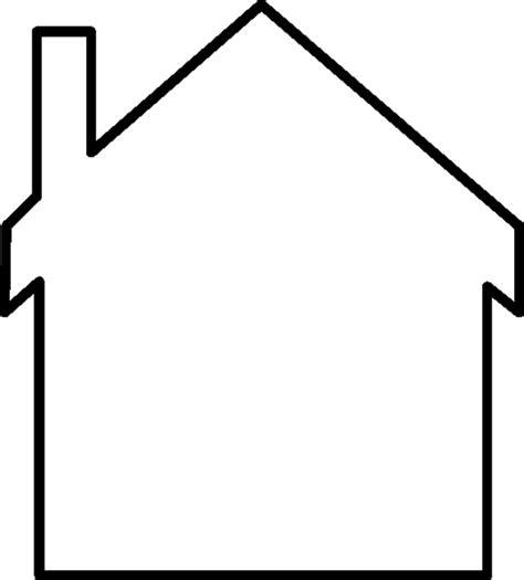 Free House Outline Image by Casas Para Colorear 2 Dibujos