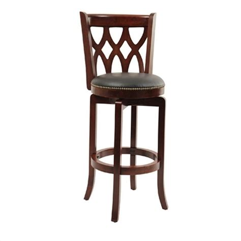 bar height bar stools swivel boraam cathedral 29 quot height swivel dark cherry bar stool