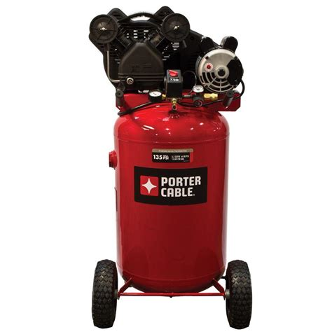 porter cable 30 gal vertical portable air compressor pxcmlc1683066 the home depot