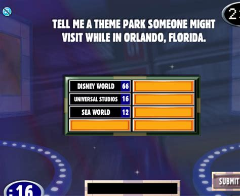 theme to family feud facebook family feud cheats tell me a theme park someone